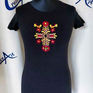 f0e424dc7b Dámske tričko s vyšitým vzorom ADAM v červeno-žltých odtieňoch – výber farieb  trička